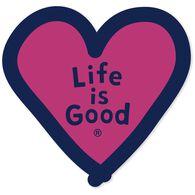 Life is Good Heart Die-Cut Sticker