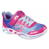 Skechers Infant/Toddler S Lights: Power Petals - Painted Daisy Athletic Shoe