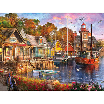 White Mountain Jigsaw Puzzle - Harbor Evening