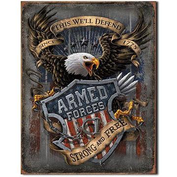 Desperate Enterprises Armed Forces Tin Sign
