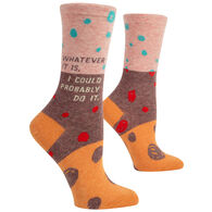 Blue Q Women's Whatever It Is I Could Probably Do Crew Sock