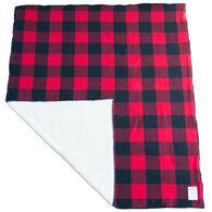 Woolly Red & Black Check Reversible Blanket