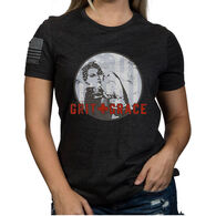 Nine Line Apparel Women's Grit And Grace Relaxed Fit Short-Sleeve T-Shirt