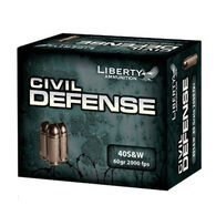 Liberty Civil Defense 40 Smith & Wesson 60 Grain Lead-Free HP Handgun Ammo (20)