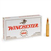 Winchester USA 308 Winchester (7.62x51mm NATO) 147 Grain FMJ Rifle Ammo (20)