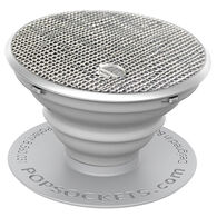 PopSockets Saffiano Silver Mobile Device Expanding Stand & Grip