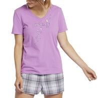 Life is Good Women's Dream Doves Snuggle Up Sleep Vee Short-Sleeve T-Shirt