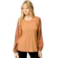 Mystree Women's Raglan Long-Sleeve Top