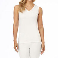 Cuddl Duds Women's Softwear Lace Edge V-Neck with Smart Layer Tank Top