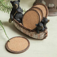 Manual Woodworkers & Weavers Black Bear Canoe Coasters, 4-Piece