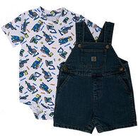Carhartt Infant/Toddler Boys' Denim Shortall Set, 2-Piece