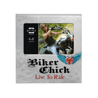 """Prinz Live To Ride Biker Chick Picture Frame - 6"""" x 4"""""""