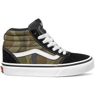 Vans Boys' Ward Hi Camo Canvas Sneaker