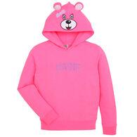 Wild Child Hoodies Girls' Pink Bear Hoodie