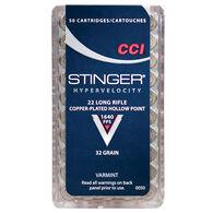 CCI Stinger 22 LR 32 Grain CPHP Rimfire Ammo (50)