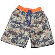 Wes & Willy Boys' Shark Camo Swim Trunk