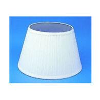 "Aladdin Mantle Lamp 14"" White Pleated Cloth Shade"