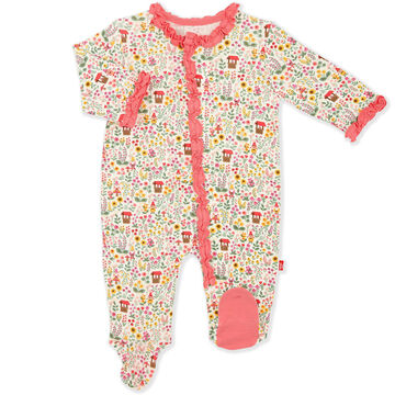 Magnetic Me Infant Girls Gnome Sweet Gnome Modal Magnetic Footie Pajama