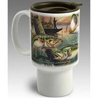 American Expedition Largemouth Bass Stoneware Travel Mug