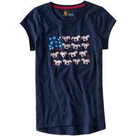 Carhartt Girls' Horse & Flower Short-Sleeve T-Shirt