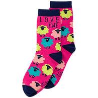 Karma Women's Love Ewe Sheep Crew Sock