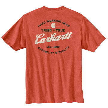 Carhartt Mens Big & Tall Relaxed Fit Heavyweight Pocket Tried and True Graphic Short-Sleeve T-Shirt