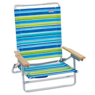 RIO Brands 5-Position Lay Flat Beach Chair