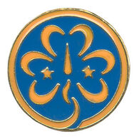 Girl Scouts World Trefoil Pin