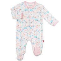 Magnetic Me Infant Girl's Sea of Splendor Modal Magnetic Footie Pajama