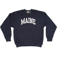 A.M. Men's Maine Arch Design Long-Sleeve Crew-Neck Sweatshirt