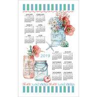 Kay Dee Designs 2019 Beach House Floral Calendar Towel