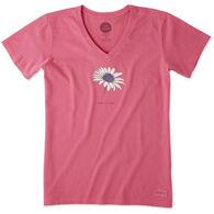 Life is Good Women's Beautiful Daisy Crusher Vee Short-Sleeve T-Shirt