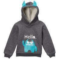 Doodle Pants Toddler Boys' Blue Monster 3D Sweatshirt