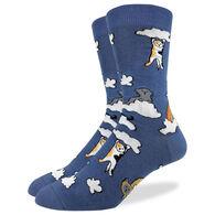 Good Luck Sock Men's Cloud Cats Crew Sock