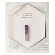 Scout Curated Wears Women's Stone Point Necklace - Amethyst/Stone of Protection