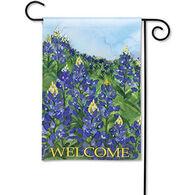 BreezeArt Fields Of Blue Decorative Garden Flag