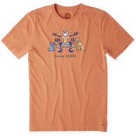 Life is Good Men's Living Large Camp Crusher Short-Sleeve T-Shirt