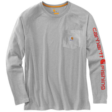 Carhartt Men's Force Cotton Delmont Fishing Graphic Long-Sleeve T-Shirt