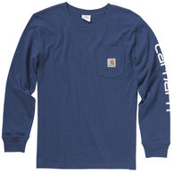 Carhartt Boy's Pocket Logo Long-Sleeve Shirt
