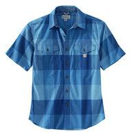 Carhartt Men's Rugged Flex Relaxed Fit Lightweight Plaid Short-Sleeve Shirt