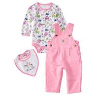 Carhartt Infant/Toddler Girls' On The Farm Overall Set