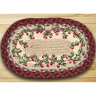 Capitol Earth Braided Oval Cranberries Rug