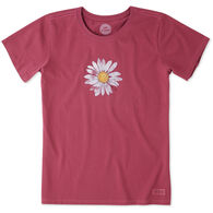 Life is Good Women's Big Daisy Crusher Short-Sleeve T-Shirt
