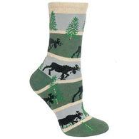 Wheel House Designs Striped Moose Sock - Hunter/Grey