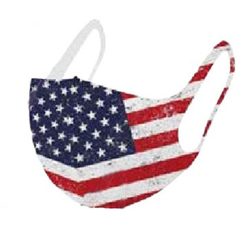 Wilcor Mens & Womens Flag Reusable Mask