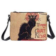 Signare Women's Steinlen Tournee du Char Noir Bag Purse Crossbody Handbag