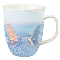 Cape Shore Maine Adirondack Chairs Photo Harbor Mug