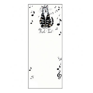 Hatley Little Blue House Cat Note Pad Magnetic List Notepad