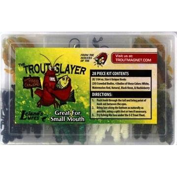 Lelands Lures Trout Slayer 28-Piece Soft Bait Kit