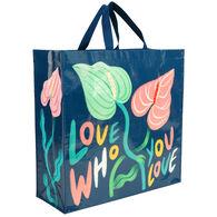 Blue Q Women's Love Who You Love Shopper Tote Bag